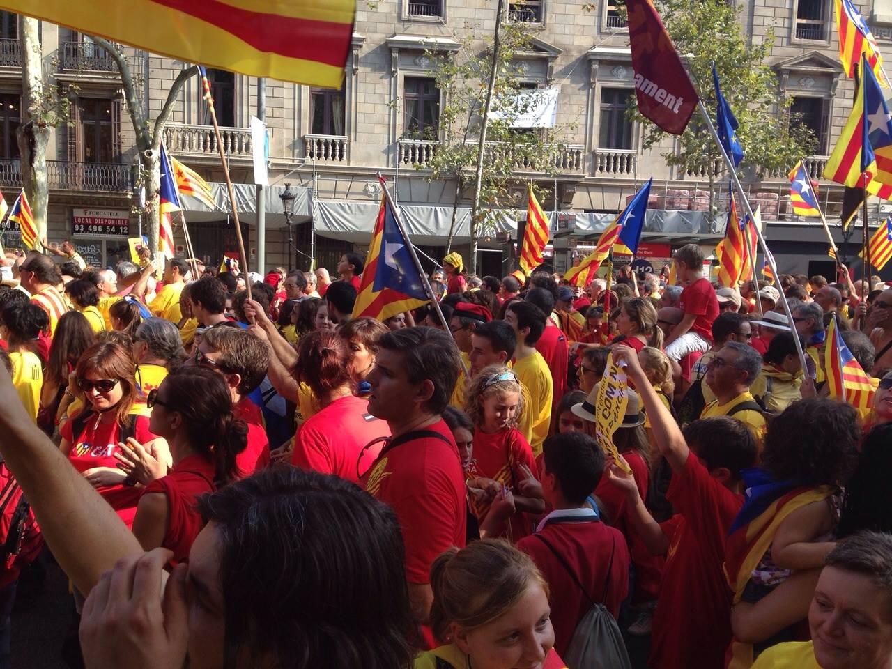 Manifestació Barcelona. Ajuntament Sant Pere de Vilamajor